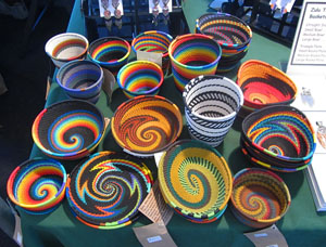 Here Are Some Of The Items We Sell At Craft Shows And Quilt In Top Picture Telephone Wire Baskets From South Africa